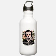 Edgar Allan Poe with Faded Roses Water Bottle