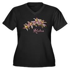 Aloha Flowers Plus Size T-Shirt
