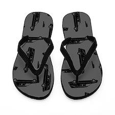 Hearse Pattern Flip Flops