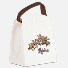 Aloha Flowers Canvas Lunch Bag