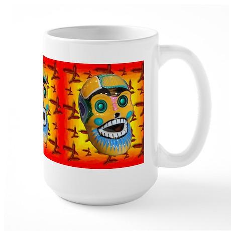 Happy Jalapeno Skull Large Mug