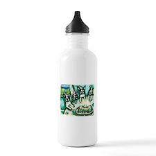 Boston Terrier birthday party Water Bottle