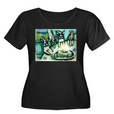 Boston Terrier birthday party Plus Size T-Shirt