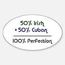 Irish & Cuban Oval Decal