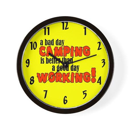 Bad Day Camping Wall Clock