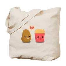 Potato is Heart Broken with French Fries Tote Bag