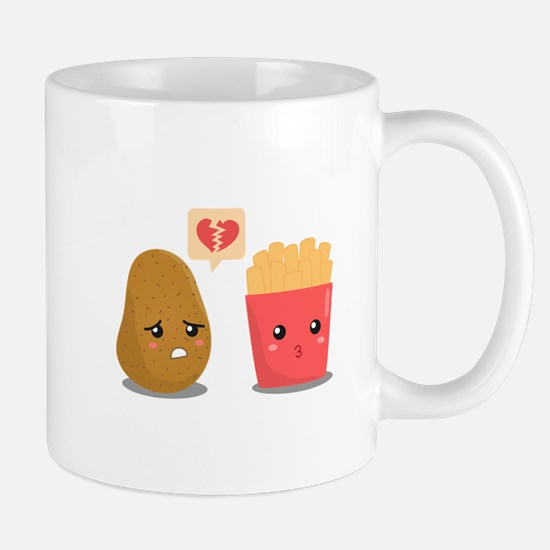Potato is Heart Broken with French Fries Mug