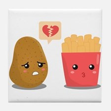 Potato is Heart Broken with French Fries Tile Coas