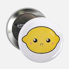 "Kawaii Lemon with a sour expression 2.25"" Button"