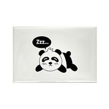 Cartoon of Cute Sleeping Panda Rectangle Magnet