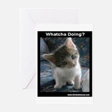Whatcha Doing Dark Greeting Cards (Pk of 10)
