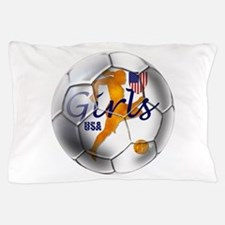 USA Girls Soccer Pillow Case