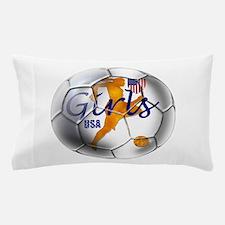 USA Girls Soccer Pillow Case