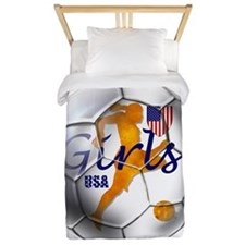 USA Girls Soccer Twin Duvet