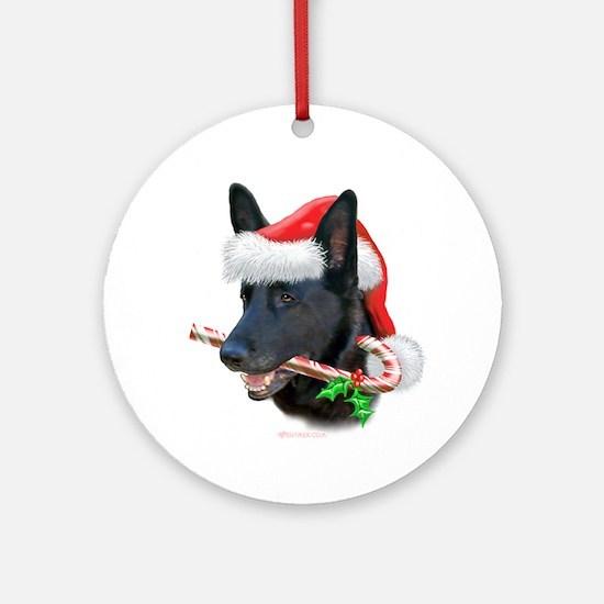German Shepherd Christmas Ornament (Round)