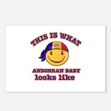 Andorra baby designs Postcards (Package of 8)
