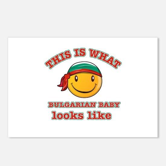 Bulgaria baby designs Postcards (Package of 8)