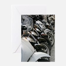 Bikes Parked Greeting Card