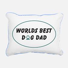 Worlds Best Dog Dad W/Paw Rectangular Canvas Pillo