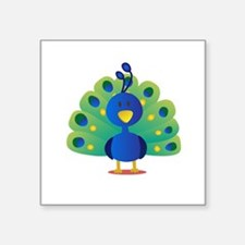 Cute peacock with bright feathers Sticker