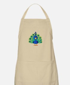 Cute peacock with bright feathers Apron