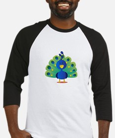 Cute peacock with bright feathers Baseball Jersey