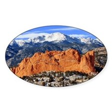 Pikes Peak, Kissing Camels Rectangle Decal