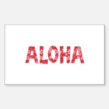Aloha in Red and Pink Floral Pattern Decal