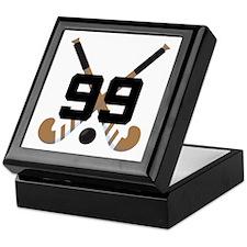 Field Hockey Number 99 Keepsake Box