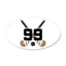 Field Hockey Number 99 Oval Car Magnet