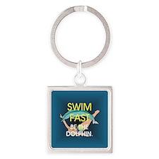 TOP Swim Slogan Square Keychain