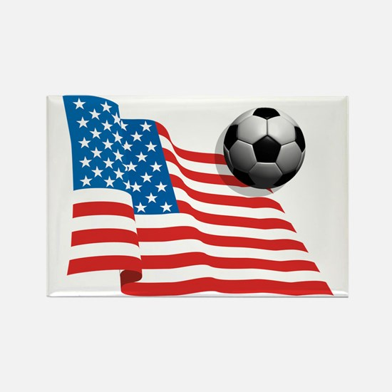 U.S. Soccer Flag Rectangle Magnet