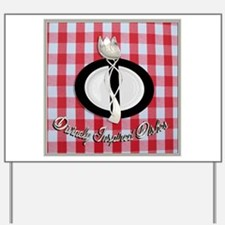 Divinely Inspired Dishes 1 Yard Sign