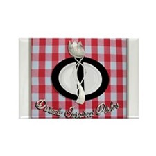Divinely Inspired Dishes 1 Rectangle Magnet (100 p