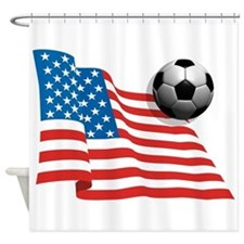 U.S. Soccer Flag Shower Curtain