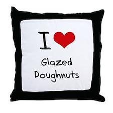 I Love Glazed Doughnuts Throw Pillow