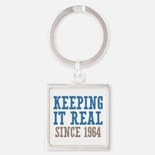 Keeping It Real Since 1964 Square Keychain