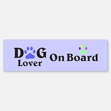 Dog Lover On Board In Lavender Bumper Bumper Bumper Sticker