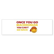 Funny Macedonia flag designs Bumper Sticker