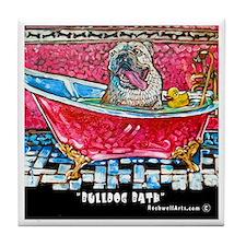 BULLDOG Bath Tile Coaster