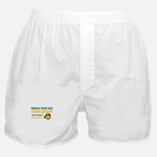 Funny Swedish flag designs Boxer Shorts