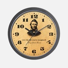Thoreau - Live the life Wall Clock