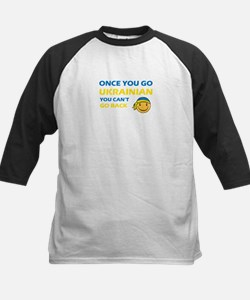 Funny Ukrainian flag designs Kids Baseball Jersey