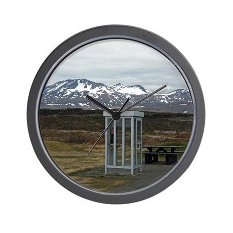 Only In Iceland Wall Clock