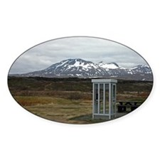 Only In Iceland Oval Decal