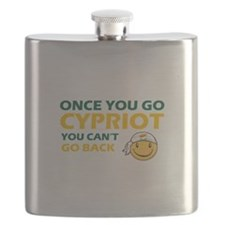 Funny Cypriot flag designs Flask