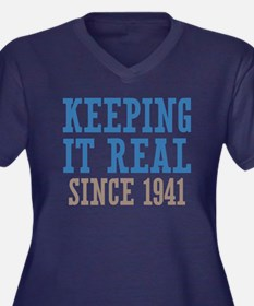 Keeping It Real Since 1941 Women's Plus Size V-Nec