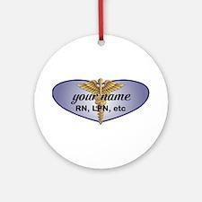 Personalized Nurse Ornament (Round)