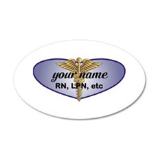 Personalized Nurse Wall Decal