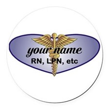 Personalized Nurse Round Car Magnet